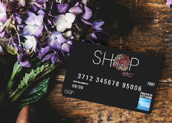 Our Shop Etc. Gift Card is the perfect gift for family, friends, or yourself no matter the occasion.